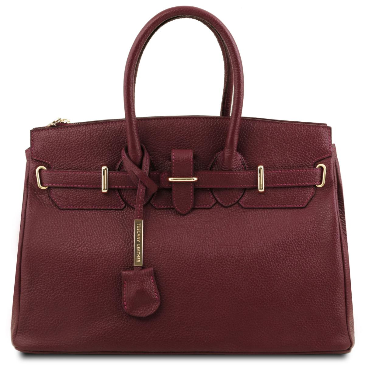 sac cuir femme avec sangle tuscany leather. Black Bedroom Furniture Sets. Home Design Ideas