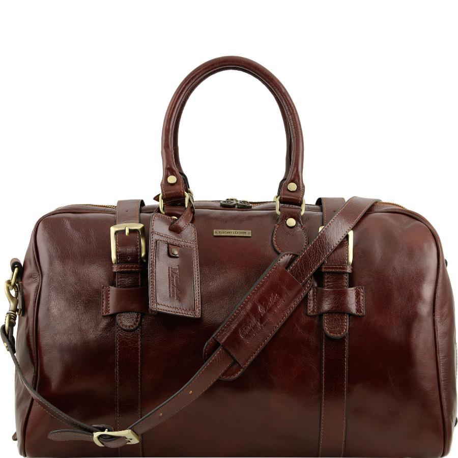 Tuscany Leather TL Voyager Sac de voyage en cuir - Grand modèle Marron WD5nqyFW1D