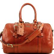 Leather Travel Bag for Women Honey - Tuscany Leather -