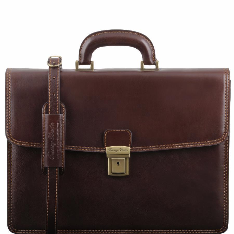 Cartable en cuir - Marron foncé Tuscany Leather AcuNcbhWkv