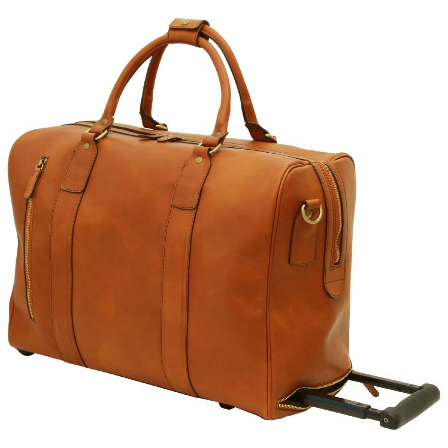 sac de voyage cuir cabine avion roulettes old angler. Black Bedroom Furniture Sets. Home Design Ideas