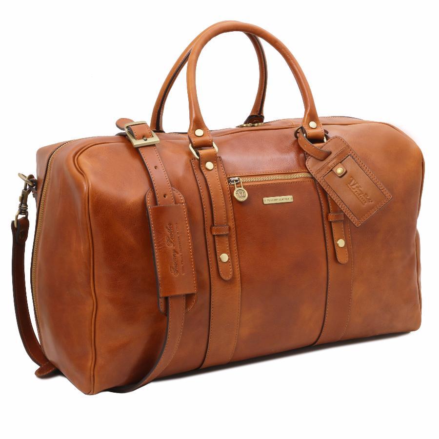 sac de voyage cuir souple cabine avion tuscany. Black Bedroom Furniture Sets. Home Design Ideas