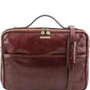 Sacoche Cuir Poche Ordinateur Marron  - Tuscany Leather -