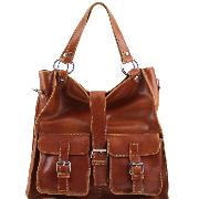 Grand Sac Cuir avec Poches Femme -Tuscany Leather-