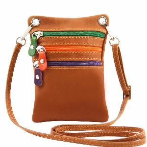 sélection premium 7d683 d28a4 Sacoche Bandoulière Cuir Camel -Tuscany Leather -