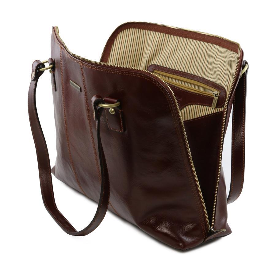 Sac à Main Business Pour Ordinateur Femme Cuir Tuscany Leather - Porte document femme cuir