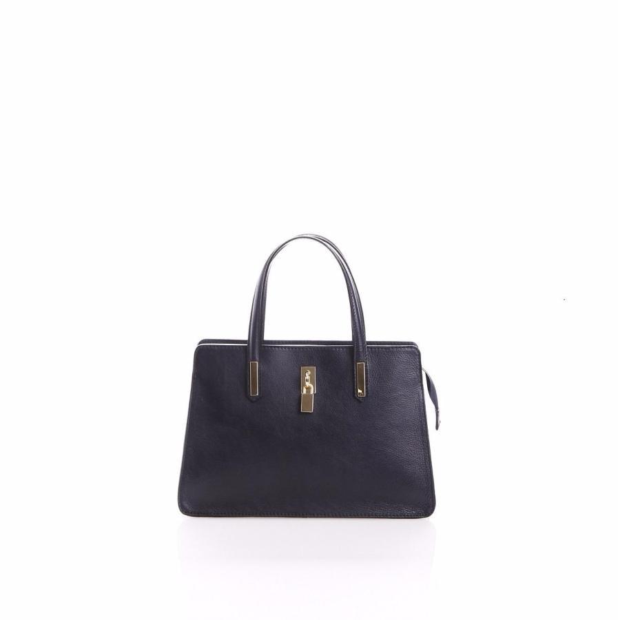 design intemporel 904e2 b1acb Sac à Main Noir Cuir Femme 2 Compartiments -Lucybags -