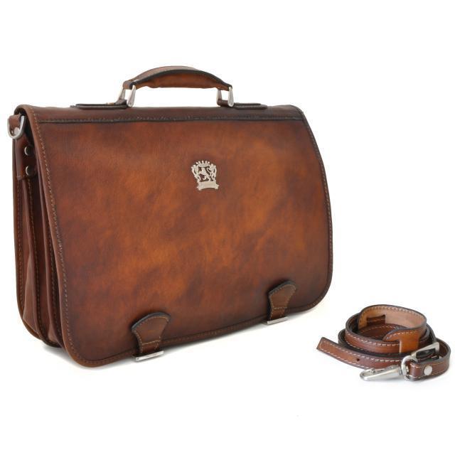 08f4b3ffe5 Cartable Cuir Vintage Homme Marron - Pratesi -