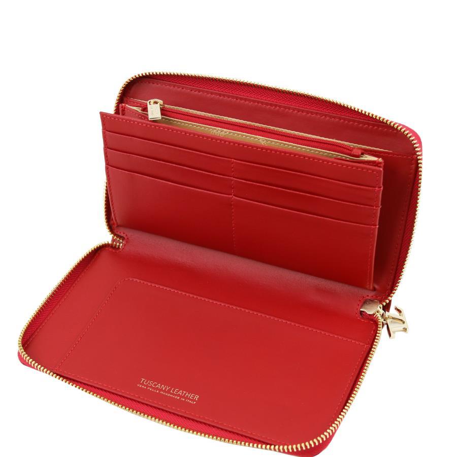 solde portefeuille cuir compartiments femme tuscany leather. Black Bedroom Furniture Sets. Home Design Ideas